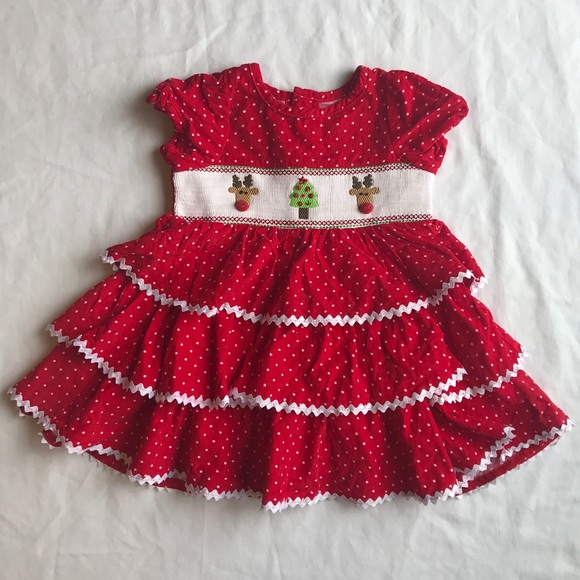 Mud Pie baby girl Christmas dress. M 5ac7c4403afbbd8e10576251 b4776898e